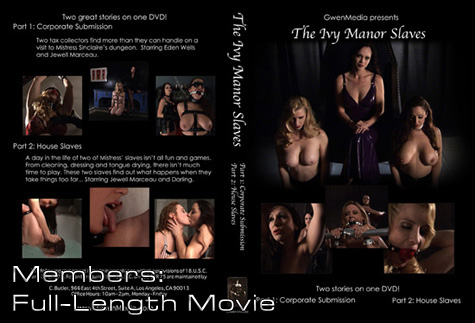 The Ivy Manor Slaves DVD Insert