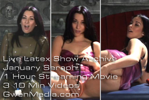 January Seraph GwenMedia Live Latex Show Promo