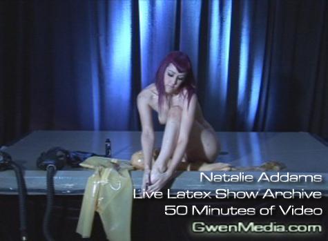 Natalie Addams Live Latex Archive Promo